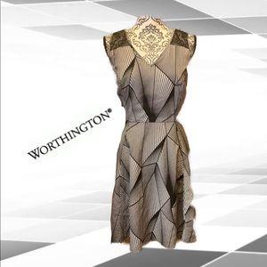 💕2for25 💕 Black/gray striped sleeveless dress